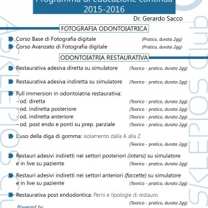 Programma Corsi 2015-2016 Dr. Gerardo Sacco